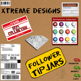Follower Club TipJar - Copyable Floating Tip Jars - Birthstone GEMS - Birth Stones - Follows the user - Percentage Split