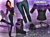 !!PROMO!!MESH Purple Bow Outfit FashionNatic