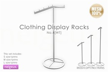 :neigeux: Clothing Display Racks No.4[WT]