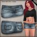 DN Mesh Denim Mini Skirt - Cool