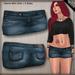 DN Mesh Denim Mini Skirt - Dark
