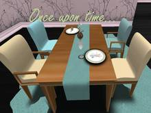 Once upon time... Sweet Dinner Room Cream&Blue