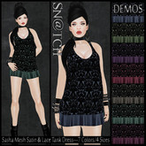 :::Sn@tch Mesh Lace Tank Dress-All Colors (Large):::