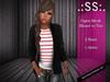 .:SS:. Open Mesh Blazer W/Tee Pink Stripe
