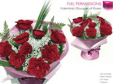 Full Perm Mesh Valentine's Bouquet of Roses - Builder's Kit