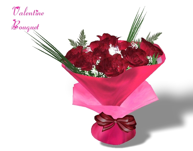 MOTHERS DAY  Red Rose Bouquet with Red Gift Wrap Mesh