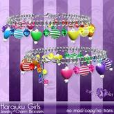 {Violet Voltaire} Harajuku Girls Charm Bracelets