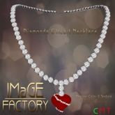 IMaGE Factory Diamond & Heart Necklace
