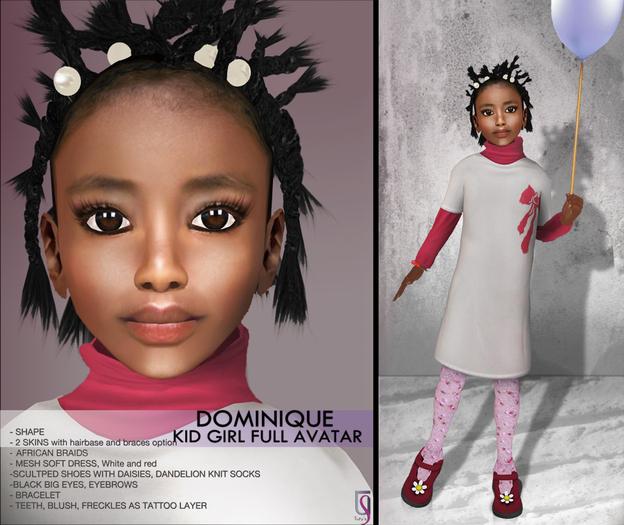 TuTy's - Dominique - kid girl full avatar