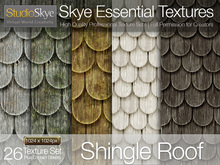 Skye Essential Textures - Wooden Shingle Roof Tiles