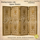 *PV* Folding Screen with Raised Borders