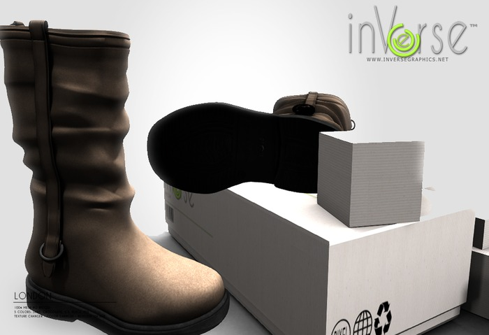 LIMITED TIME PROMO:  inVerse™ - London Boots 100%mesh NO RIG 5 colors