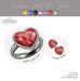 Gemstone heart   silver