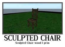 Sculpted Chair wood 1 prim