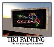 Tiki Bar Painting with Bamboo -