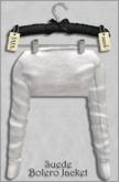 { ViVi } Suede Bolero Jacket - White - 100% MESH