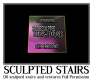 230 sculpted stairs and textures (Full Permissions) -