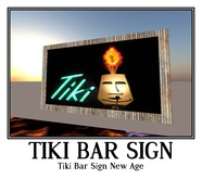 Tiki Bar Sign New Age-