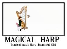 Magical music Harp + Beautifull Girl .