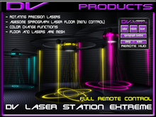 DV -MESH Laser Station Extreme V1.3  with laser Spirograph Dance floor, Rotating precision lasers, and hud control