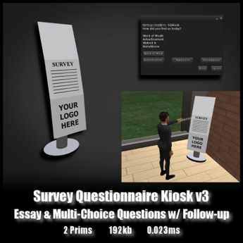 Survey Questionnaire Kiosk V3 *0.023ms* - Ask questions... and follow up questions!