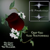 NSP Deep Red Rose Boutonniere