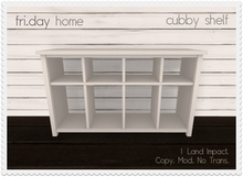 fri.home - cubby shelf