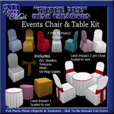 TD Mesh Events Table & Chair Kit