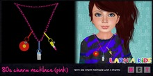 ~* Larnia Kids *~80s charm necklace (pink)