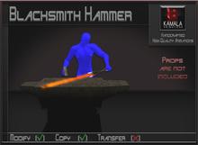 Chores Trades *Blacksmith Hammer* Copyable Poseball