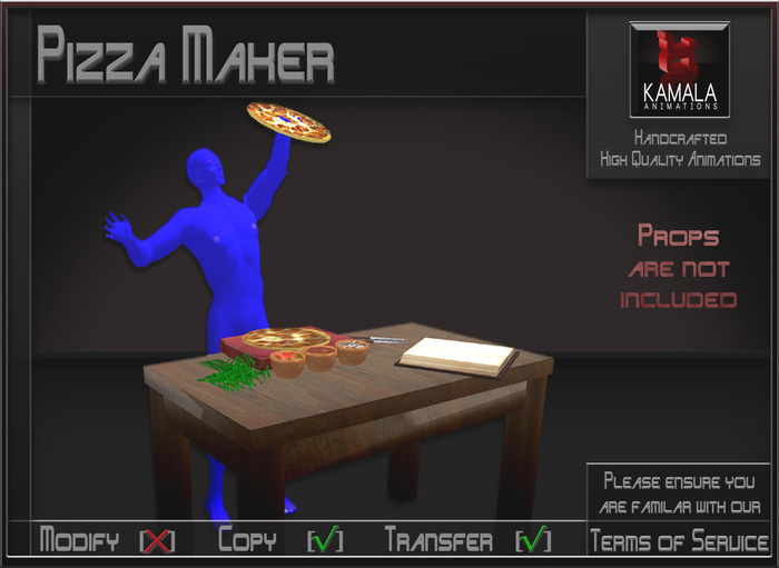 Chores Trades *Pizza Making* Animations for Builders