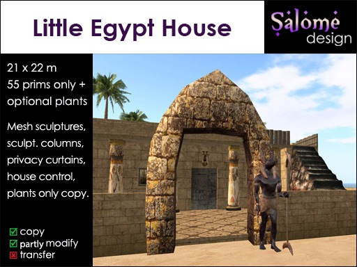 Little Egypt House *** detailed and low prim ***