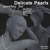 Delicate Pearls - Jewellery Set