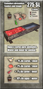 Comedero de animales (carne y agua) / Feeding for animals (meat and water) [G&S]