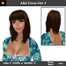 A&A Cinna Hair Brunette (Color 4). Medium length straight flexi hairstyle with soft fringed side waves