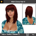 A&A Cinna Hair Flame (Color 6). Medium length straight flexi hairstyle with soft fringed side waves