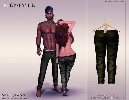 KENVIE . mesh . Nive Custom Jeans DarkBlue