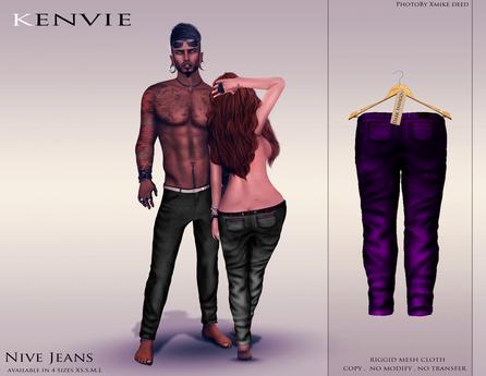KENVIE . mesh . Nive Custom Jeans Indigo