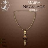 -=UZURI=- Maira Necklace (gold)