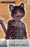 Luskwood Pink Leopard Furry Avatar - Male