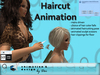 Salon - Haircut Animation_menu driven_with animated scissors and falling hair --- copy/modify