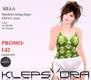 KLEPSYDRA - Miaa Standard Sizing Promo