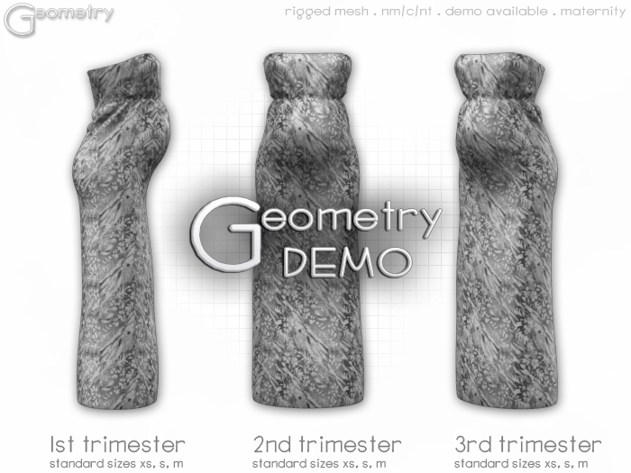 <Geometry> Sand Maternity Dress > DEMO    ( rigged mesh in standard sizing )
