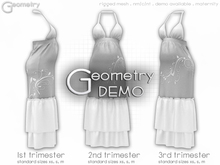 <Geometry> Garden Maternity Dress > DEMO   ( rigged mesh in standard sizing )