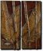 Bamboo Leaves  - 2 panel cutout - deep tone