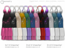 <Geometry> Garden Maternity Dress > All Colors   ( rigged mesh in standard sizing )