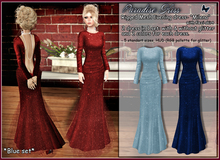 {Paradise kiss} Milena dress-blue set (Rigged Mesh)