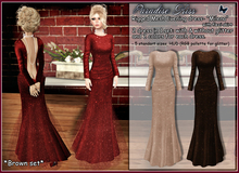 {Paradise kiss} Milena dress-brown set (Rigged Mesh)