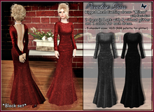 {Paradise kiss} Milena dress-black set (Rigged Mesh)