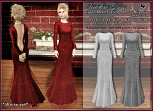 {Paradise kiss} Milena dress-white set (Rigged Mesh)